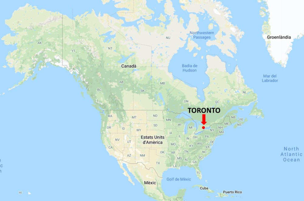 mapa toronto